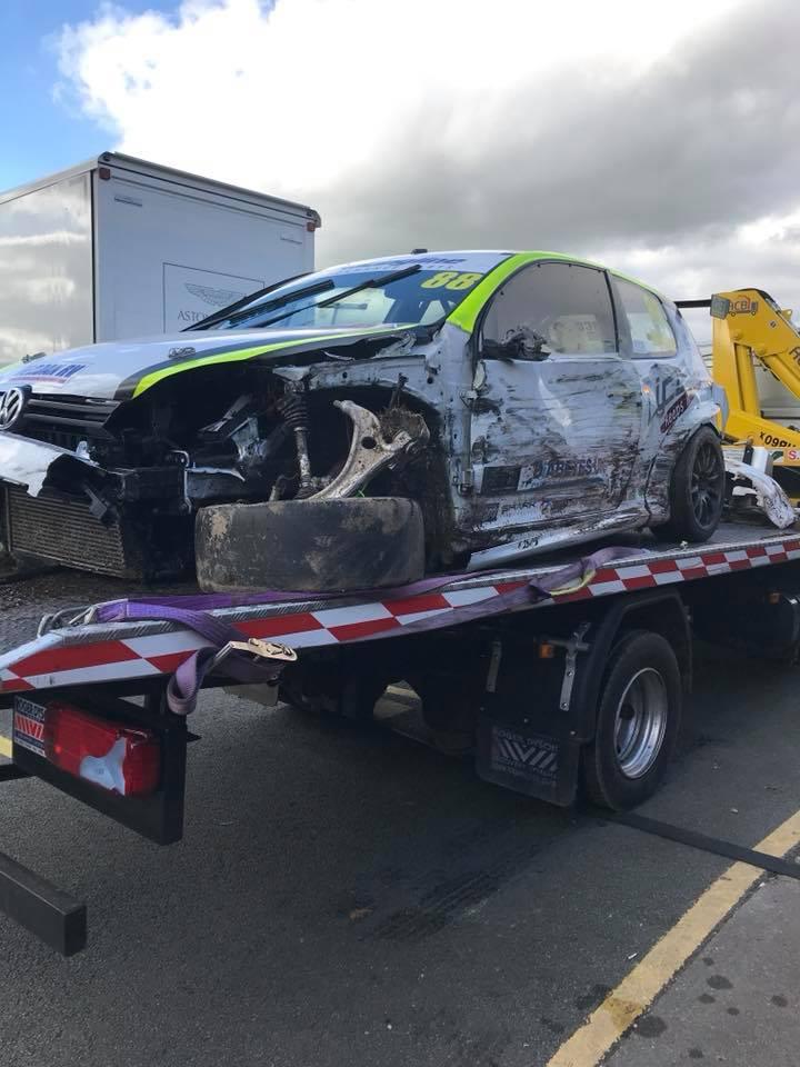 Ben Wallace Oulton PARK - Damaged Car