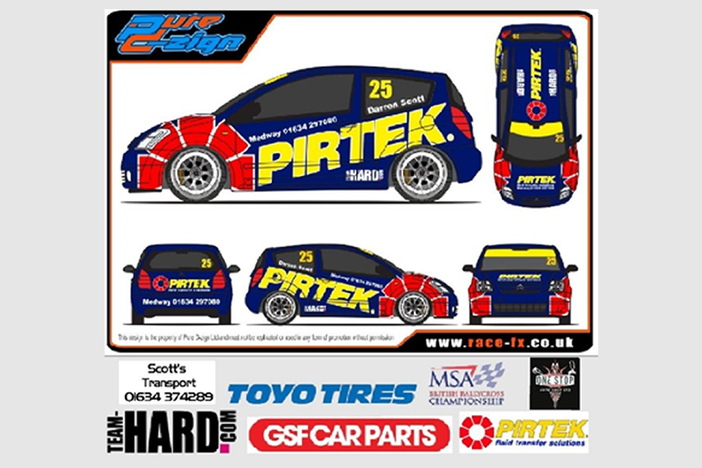 Team HARD. cross to rally with Pirtek