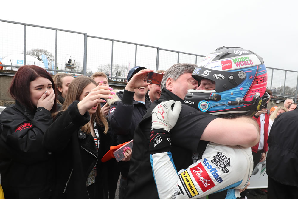 Best placed finish for Team HARD in the BTCC at Brands Hatch