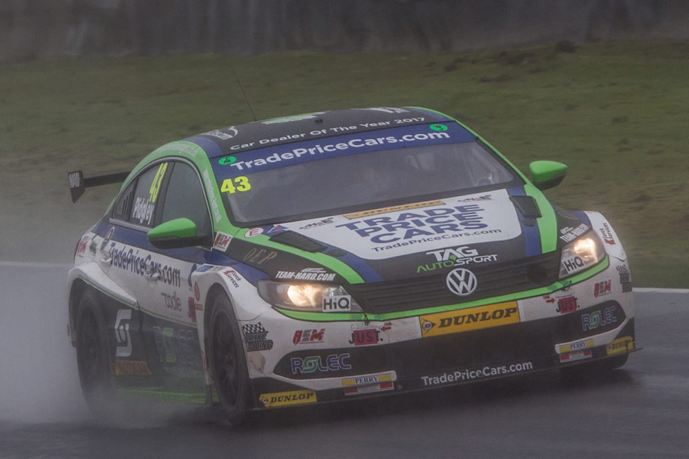 RAIN-HIT KNOCKHILL PROVIDES ENJOYABLE NEW CHALLENGE  FOR BTCC ROOKIE PIDGLEY