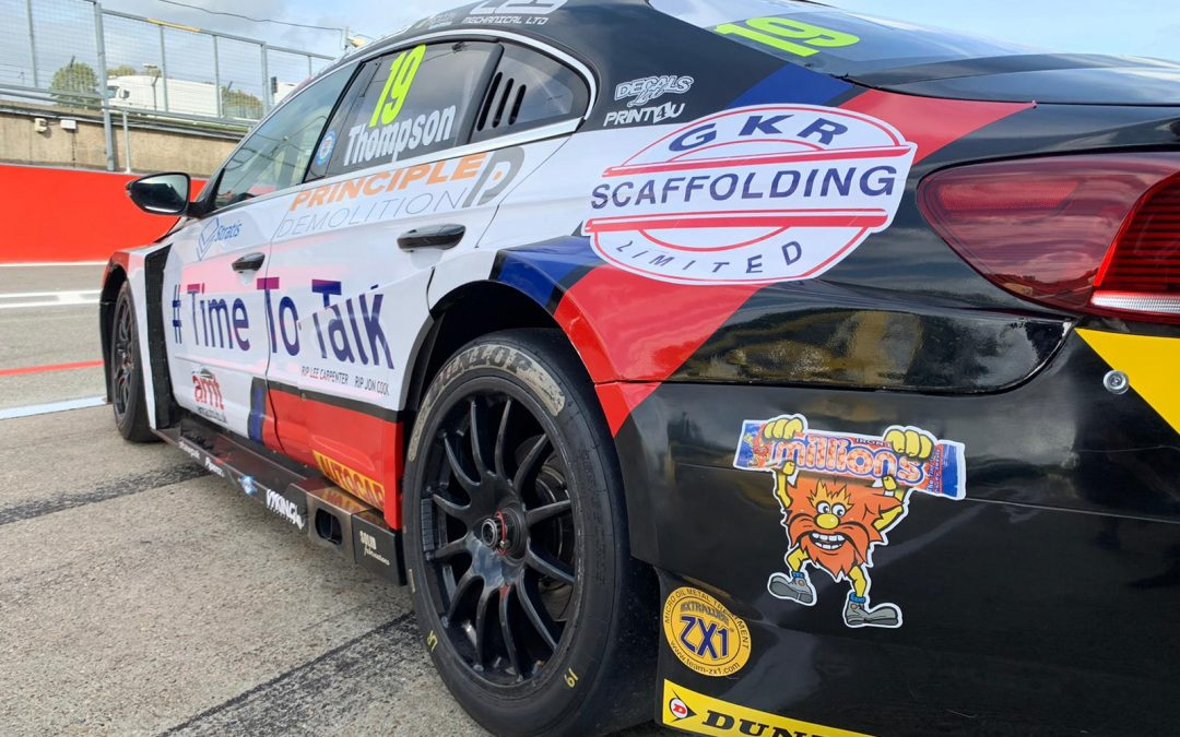 BTCC star Thompson to support World Mental Health Day at Brands Hatch.
