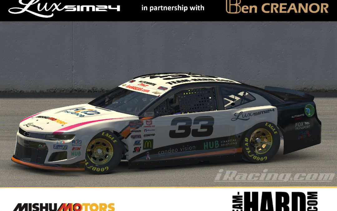 Team HARD. Racing and Luxsim24 to Power Ben Creanor in the NASCAR Whelen Euro ESeries