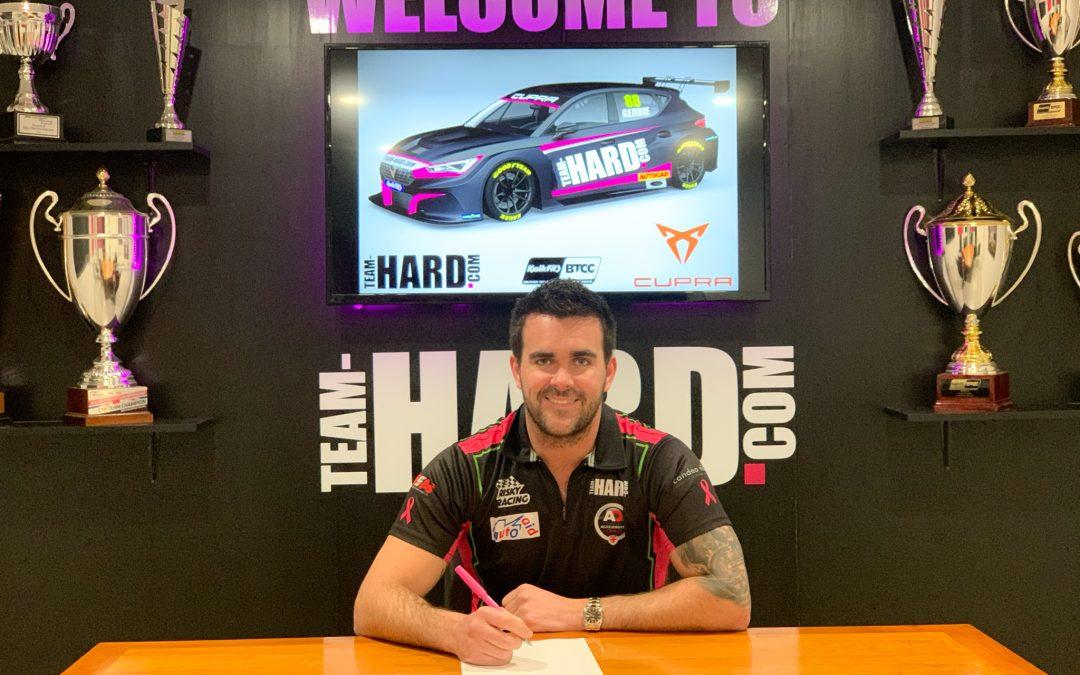 Geddie to partner Goff in second Team HARD. Racing Cupra seat